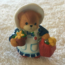 Lucy & Me Mama Bear With Basket & Potted Plant Figurine Lucy Rigg 1994