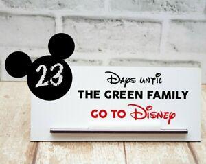 Days Until We Go To Disney - Countdown To Disney Wooden Plaque