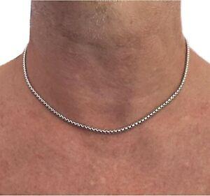 Collana catenina in acciaio inox da uomo donna girocollo catena lunga 40 45 cm