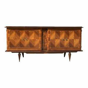 1940s French Art Deco Exotic Macassar Ebony '' Zig Zag '' Sideboard or Credenzas