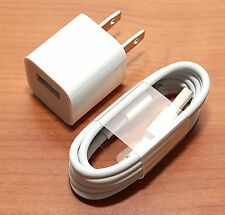 Apple iPhone X 8 PLUS 7 PLUS 6S 6 6+ 6S Wall Charger Lightning Cable GENUINE NEW