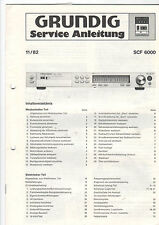 Grundig Service Anleitung Manual SCF 6000   B408