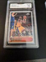1996-97 Topps Chrome #138 Kobe Bryant Rookie Reprint Lakers RC READ GMA 10 Mint