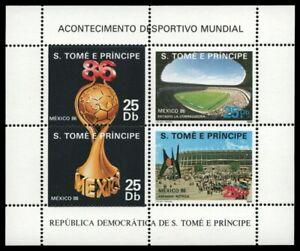 São Tomé & Príncipe 1986 - Mi-Nr. Block 166 ** - MNH - Fußball / Soccer