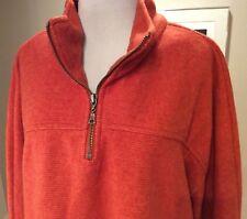 True Grit Ridgeline Pullover Fleece Orange Sweater Size XL