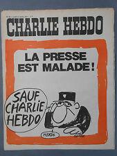 ►CHARLIE HEBDO N°63 - JANVIER 1972 - REISER