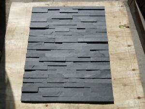 Stack stone stacker 150x600mm strong black-dark grey slate about 20mm thick