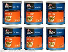 6 Cans - Beef Stew - Mountain House Freeze Dried Emergency Food Supply