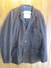 G STAR RAW DAYTONA BROWN CORDUROY 3 BUTTON BLAZER JACKET SZ XXL VGC