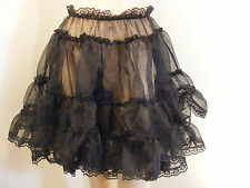 "SISSY ADULT BABY ORGANZA SKIRT SLIP 18""LONG LOLITA FANCYDRESS COSPLAY ALL COLOUR"