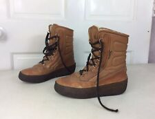 DIVAL Winter Boots Shearling Lined Made Italy Women's 8