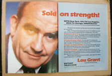 Lou Grant 1983 Ad- Sold on strength! /2 page ad MTM Production