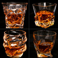 Lead-Free Crystal Glass Twist Whiskey Glass Tumblers Cocktail Cup Luxury Gift