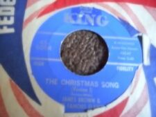 "JAMES BROWN ""THE CHRISTMAS SONG"" (VERSION 1 & 2"" 7"" 45 MINT-"