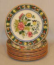9 Adams Titian Ware Della Robia Multicolor Floral Medallion 1658 Dinner Plates
