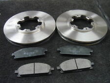 FOR NISSAN ELGRAND MPV 3.0 3.2 FRONT VENTED 283mm BRAKE DISC DISC PAD PADS SET