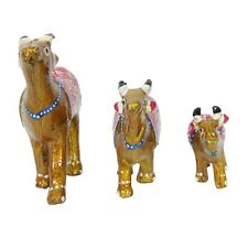 3 PC Handmade Item Wooden Cow Statue Party Office Decor Gift