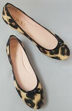 Authentic Red Valentino Leopard Print Ballerina Style Flats Made in Italy Size 3