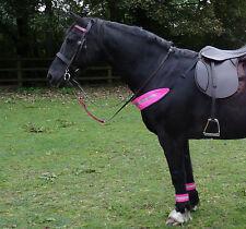 Pink Hi Viz Fluorescent Bridle Set - 4x Leg 2x Bridle Hat & Chest