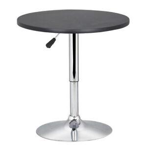 Modern Swivel Counter Height Table Adjustable Pub Bistro pedestal Bar Cafe Table
