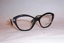 NEW MIU MIU EYEGLASSES NOIR MU 02O 1AB1O1 BLACK 54mm RX AUTHENTIC 02OV