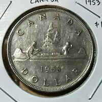CANADA 1953 SILVER DOLLAR  CROWN COIN