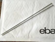 """Pair 10"""" Knitting Needles Size 2.75 mm (12 UK) (2 US) Vintage British Metal Fine"""