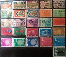 Monaco 1962 / 1971 MNH** Europe CEPT 10 complete sets