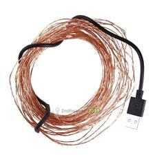 DC5V 10m 100 LED String USB Copper Wire Lights Christmas Decor(Warm white) BEST
