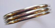 Tiffany & Company Makers Vintage Sterling Ribbed Bangle Bracelet  43 grams