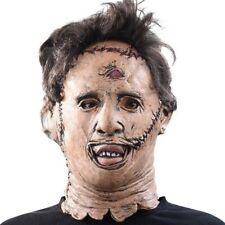 Horror Leatherface Mask Texas Chainsaw Massacre Killing Costume Halloween Latex