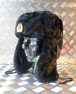 Russian / Soviet / USSR Black Cossack Hat w Ear Flaps. All Sizes - Brand NEW