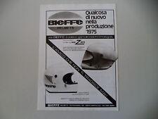 advertising Pubblicità 1975 CASCO BIEFFE INTEGRALE X-4001/X 2001