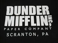 NWOT THE OFFICE DUNDER MIFFLIN PAPER COMPANY - BLACK MEDIUM T-SHIRT C1196