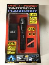 Pro-4 Power Tactical Flashlight With Carry Case And Batteries.