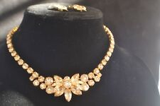 Vintage Estate EISENBERG Marked Champagne Necklace and Earring Sets