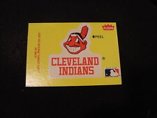 VINTAGE 1980's Cleveland Indians Fleer Team Logo Sticker Card, VERY COOL!!
