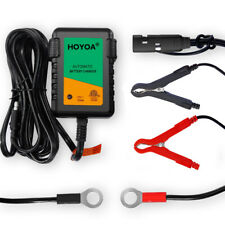 12v 750mA Trickle Battery Charger Maintain Charger Lead Acid Gel/Agm for Car Aut