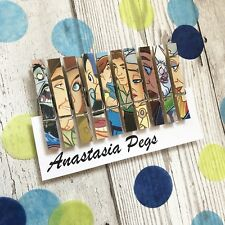 Disney Anastasia Wooden Clip Magnets Peg Design Set of 10 ~ Fridge Magnet