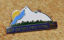 "BANFF LAKE LOUISE WINTER FESTIVAL RESORT CANADA ALBERTA SKI METAL 1"" LAPEL PIN"