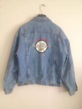 Hard Rock Cafe London Denim Jean Jacket Large Blue Rock & Roll Vintage