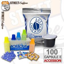 100 Capsule Caffè Borbone Miscela Blu compatibili Nespresso + Kit accessori