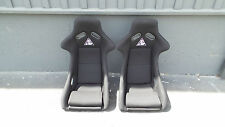 J-UP FIXED BUCKET SEAT PAIR BLACK SIDE MOUNT FIXED BACK S13 S14 240 BRIDE RECARO