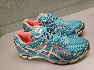 ASICS Womens GT 2000 2 Running Shoes T3P8N  Bluefish/White/Electric Melon Sz 8.5