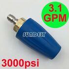 1-Pcs Blue 3.1 GPM High Pressure Washer Turbo Nozzle Working Pressure 3000PSI