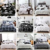 Cotton Print Duvet Quilt Cover PillowCase Bedding Set Twin/Queen/King /Full Size
