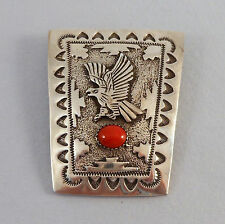 BEATRICE KEE - .925 STERLING SILVER & CORAL EAGLE IN FLIGHT BOLO