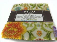 """Robert Kaufman GRAND maiolica giardino 42 quadrati - 5 """"X 5"""" QUILT Charm Pack"""