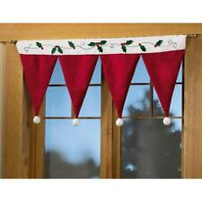 Christmas Window Panel Drapes Set Xmas Curtains Santa Curain Drape Door Rowan