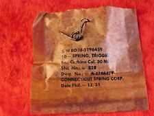 USGI M-1 Carbine Trigger Spring Dated 12/51  NOS From Packet In Cosmoline